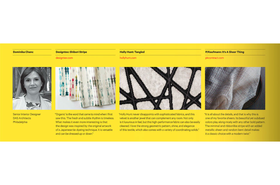 Our Top Three New Textile Picks for Contract Magazine
