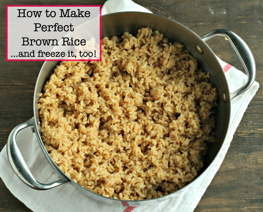 How to make (and freeze) brown rice! via @DashOfEvans