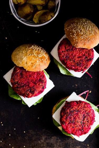 Veggie Burger mit Rote Bete Hirse Bratling (15 von 61)