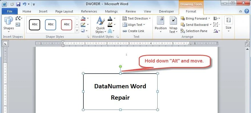 3 Method to Move Objects More Precisely in Your Word - Data Recovery - degrees in microsoft word