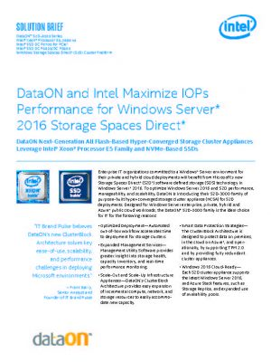 Resources · DataON Storage Agile Storage for the Microsoft-Defined