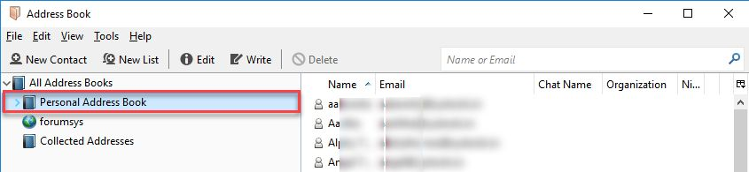 Export Thunderbird Address Book To Outlook 2016, 2013, 2010