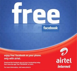 Free Facebook access for a Limited time on Airtel Mobile
