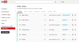 Youtube Audio Library Offering Free royalty-free Music tracks for your Videos