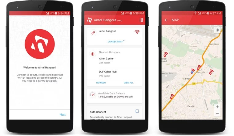 Airtel introduces Wi-Fi App - Airtel Hangout to Connect to its WiFi Zones
