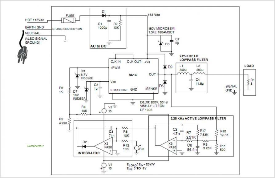 pc switching power supply wiring diagram