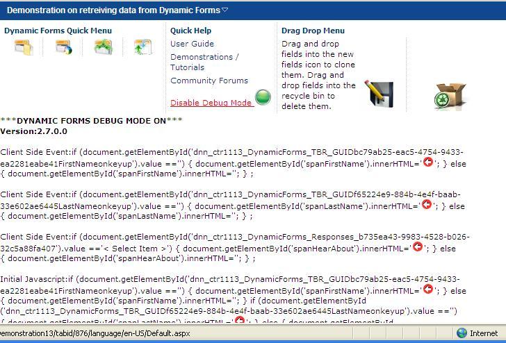 DNN Store \u003e Home \u003e Product Details \u003e Dynamic Forms 70 - Data