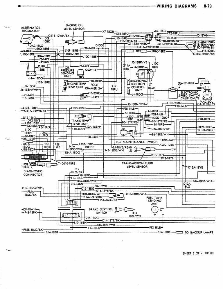 Dave\u0027s Place - 79 M300/M400 Dodge Class A Chassis Wiring Diagram