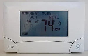 Lux Products' Model TX900TS Touch Screen Thermostat