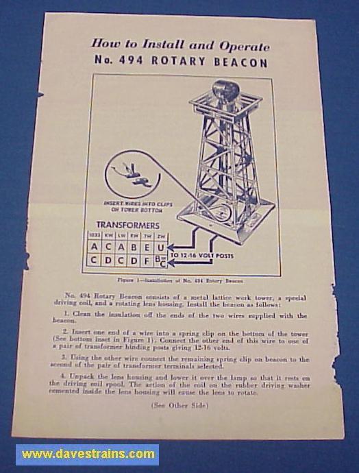 Dave\u0027s Trains, Inc Postwar Lionel Model Train Accessories