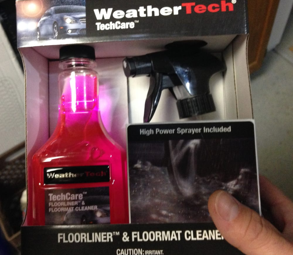 Weathertech floor liner mats and techcare cleaner