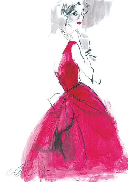 David Downton - Fashion Illustrator - Clients - VA