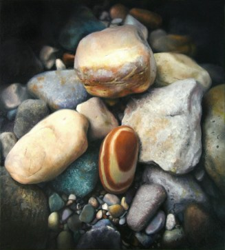 "Rock of Ages, 11""x10"", oil on panel, $2200"