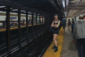 """Waiting for the L Train 25""""x20"""""""
