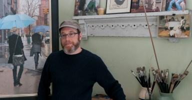 Vincent in his studio
