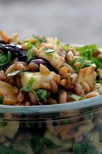 roasted root vegetable and wheat berry salad
