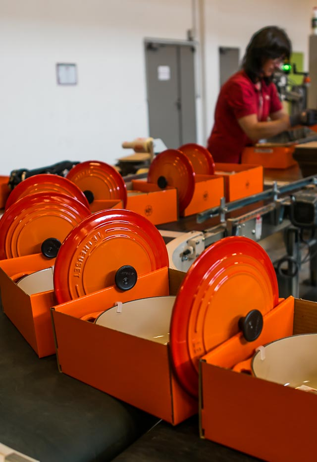 Le Creuset off the assembly line