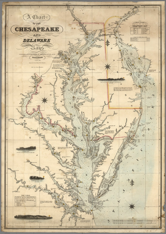 A Chart of the Chesapeake And Delaware Bays - David Rumsey