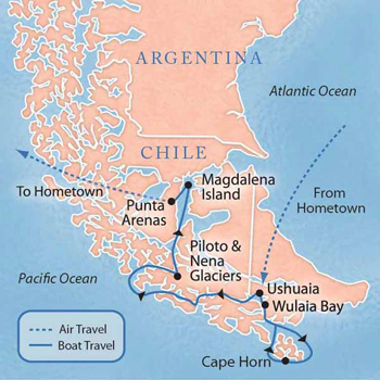 Chile - Patagonia Cruise with Luxury  Style (4 Days) A Sample
