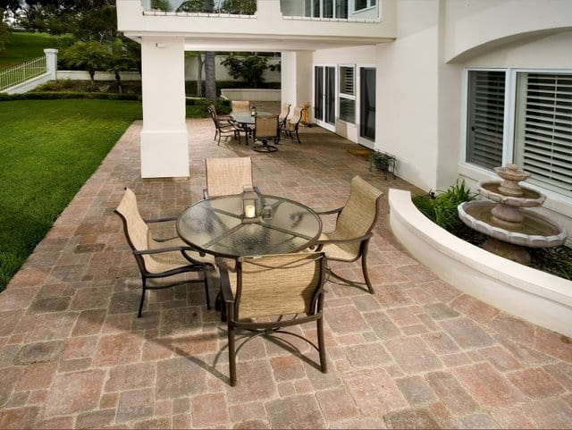 Outdoor Patios Created Using Davis Colors Concrete