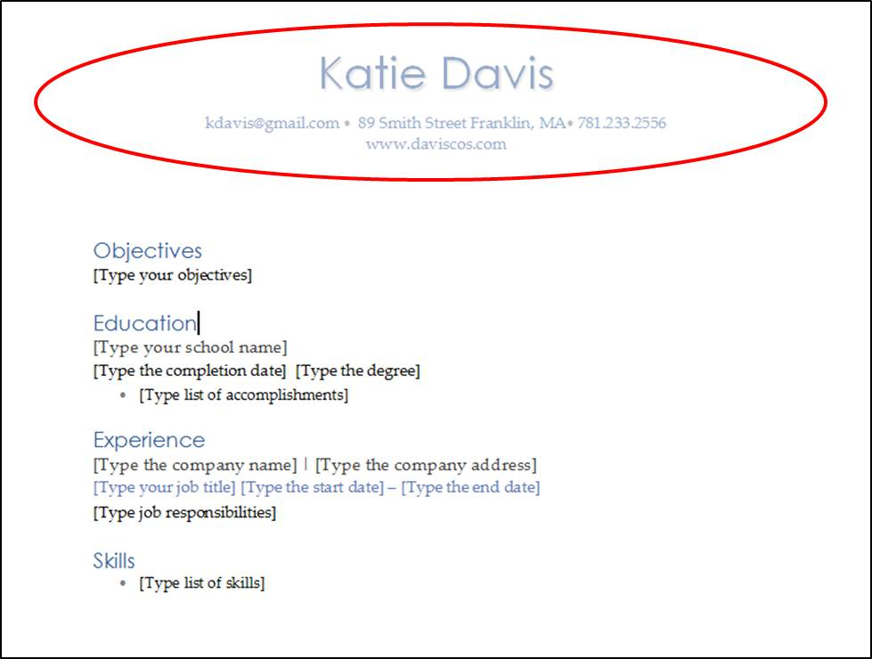 4 Easy Word Tips to Create a Killer Resume - DAVIS Cos