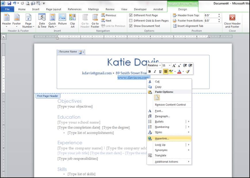 4 Easy Word Tips to Create a Killer Resume - DAVIS Cos