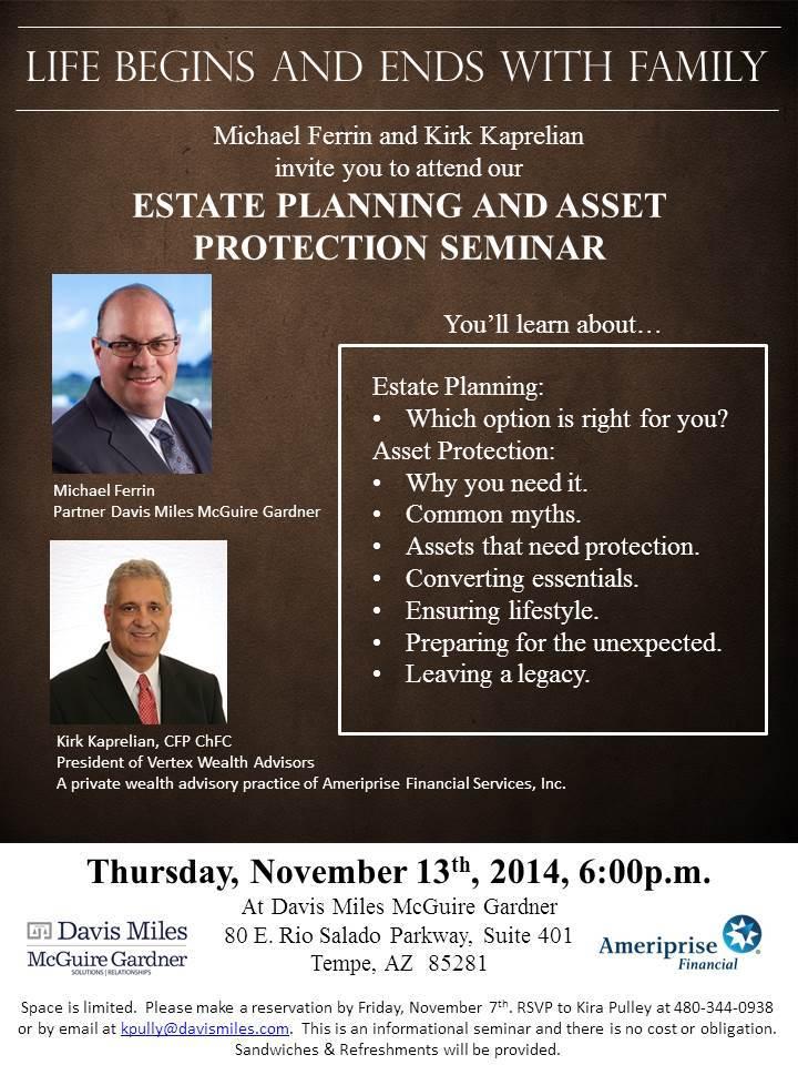 Estate Planning and Asset Protection Seminar - Davis Miles McGuire