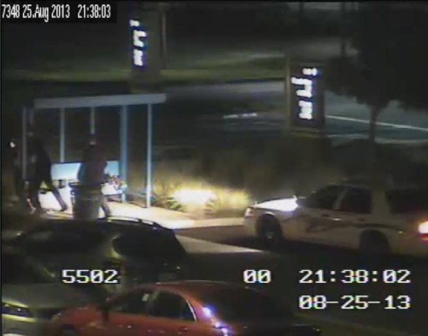 Cache Creek Casino Surveillance Shows Deputy Hoyt Slam Chase Tinsley into Bus Stop Wall