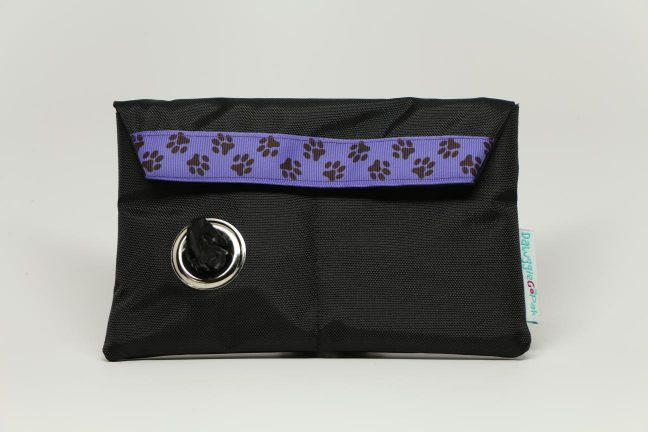 Black GoPak - Purple Ribbon w/Black Paws - Dawgs On The Go