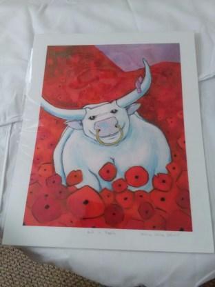 """Bull in Poppies"" by Joshua Steward"