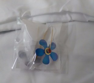 Blue flower earrings by Keith Lewis