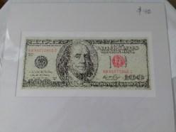 Hundred dollar bill print by David Hollier