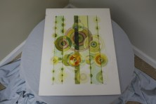 $60 VALUE - Colorful abstract circles print by artist Rick Loudermilk