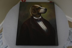 $50 VALUE - Dog in a suit painting by Dogma Catmantoo