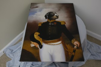 $50 VALUE - Full body colonial military dog painting by Dogma Catmantoo