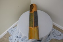 $275 VALUE - Large copper wallhanging in shades of green and gold by artist Daniel Hedblom