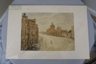 "$200 VALUE - ""Grand Canal, Venice"" Giclee Print donated by artist David Dallison"