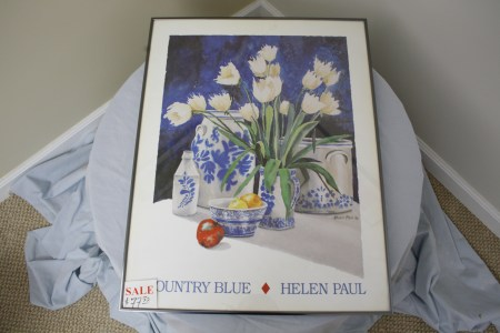"$80 VALUE - ""Country Blue"" framed print by Helen Paul donated by The Art Spot"
