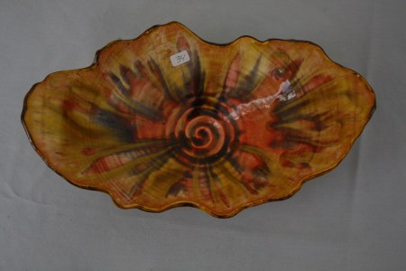 $34 VALUE - glossy whimsical ceramic bowl by artist Jane Waxenfelter