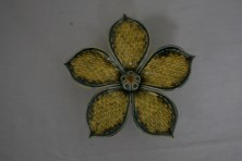 $28 VALUE - Ceramic flower wallhanging by artist Rebecca Lowery