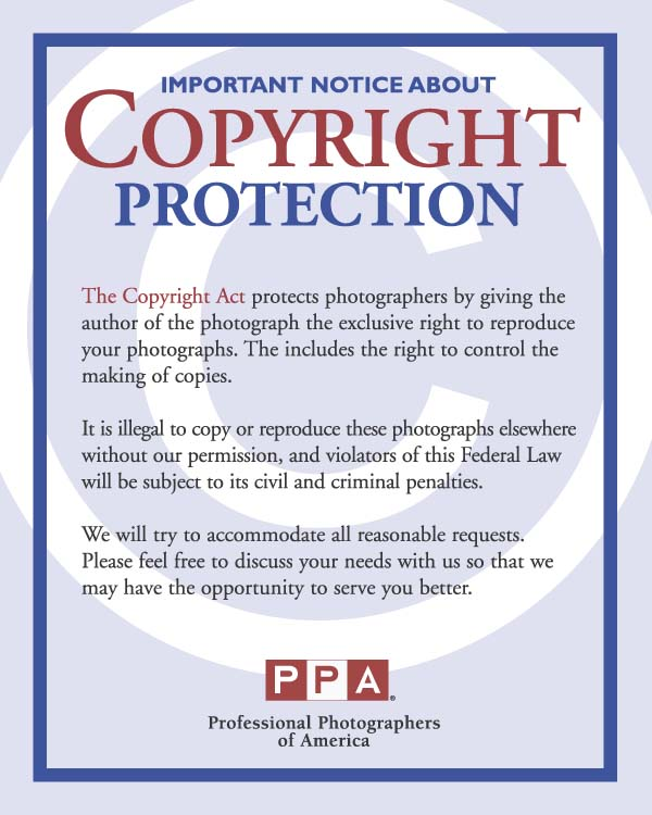 Photograph Use - notice of copyright importance