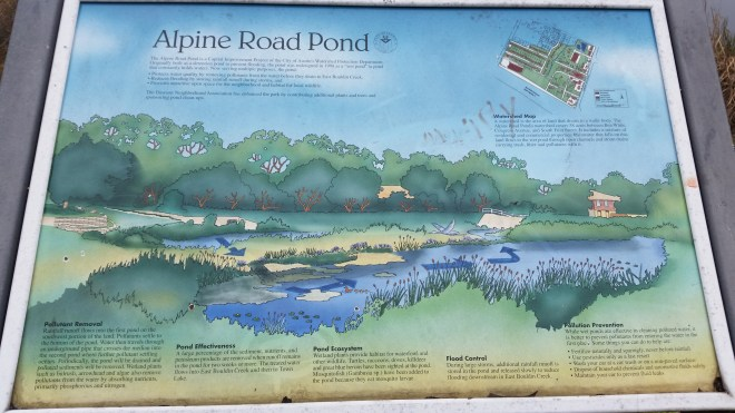 Alpine Pond sign