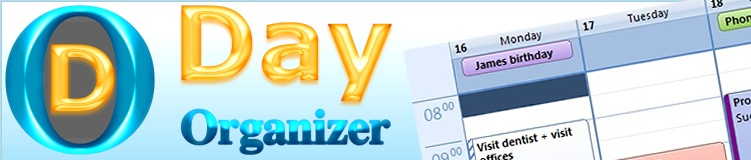 Personal organizer - Day Organizer software (freeware - free of charge)