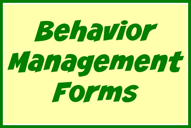 Free Daycare Forms and Sample Documents - behavior log examples