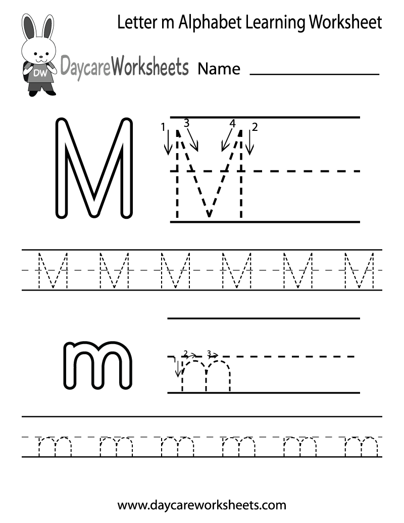 Free Worksheets Library Download and Print Worksheets – Letter M Worksheets for Kindergarten