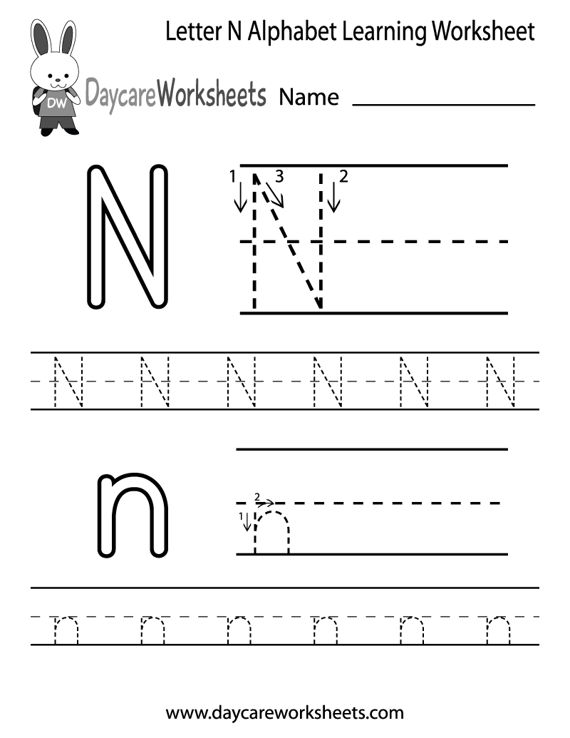 math worksheet : letter n preschool  paye reference finder : Letter N Worksheets Kindergarten