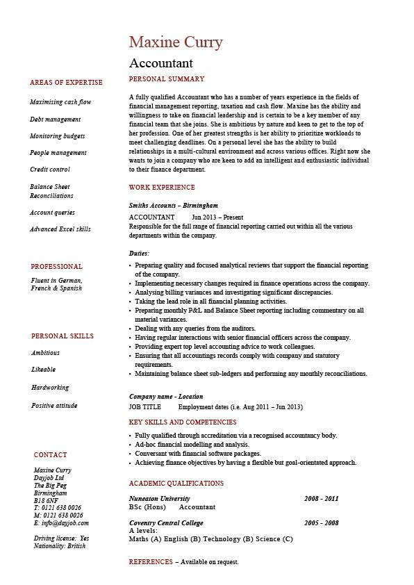 cv for academic position