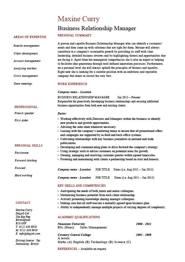 resume examples commercial banking