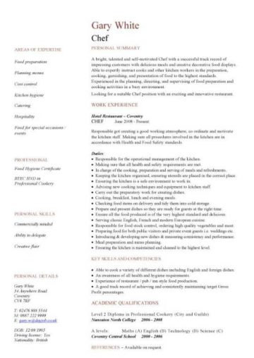 personal profile cv example