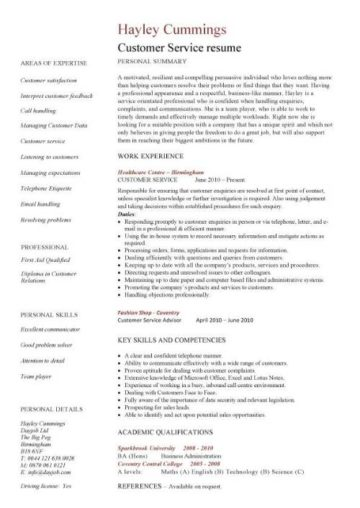 Customer service resume templates, skills, customer services cv, Job